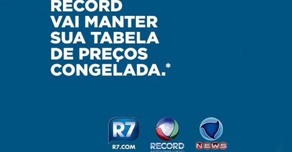 Record anuncia tabela congelada até 2017