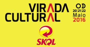 Logo Virada Cultural e Skol