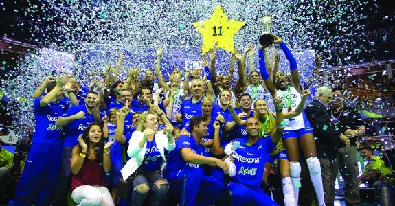 Time Rexona Ades comemora 11º título da Superliga
