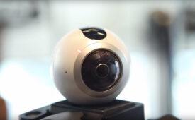 Samsung apresenta câmera 360 e pulseira esportiva