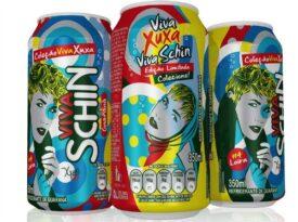 Xuxa estampa série de latas da Brasil Kirin