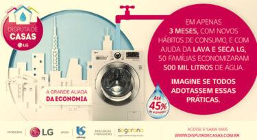 Sabesp e LG premiam casas por economia de água