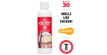 KFC lança protetor solar com cheiro de frango frito
