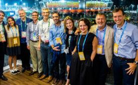 Globo recebe convidados no Parque Olímpico