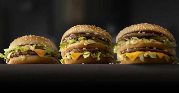 McDonald's cria Big Mac tamanhos P e G