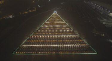 Ação da Mercedes-Benz Caminhões é a maior árvore de Natal do mundo