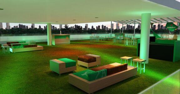 Instalações e festas da Heineken ocupam MAC de São Paulo