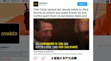 Twitter e Omelete fazem parceria para Oscar