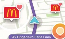 Waze lança formato em parceria com McDonald's