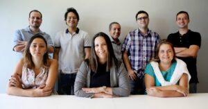 Da esquerda para direita (Em pé): Rafael Consani, Marcelo Maeda, Marcelo Santos, Diogo Ramos e João Ferraioli. Da esquerda para direita (Sentadas): Thalita Froes, Simone Orlandi e Marcella Silveira.