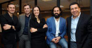 Fabricio Klug, Britto Jr, Carolina Vanuci, Lucas Elias e Mauro Faustino (crédito: divulgação)