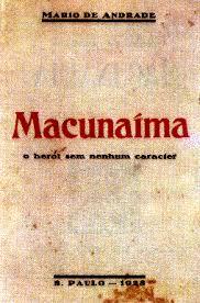 Capa da primeira edição do livro Macunaíma de Mário de Andrade (crédito: reprodução)