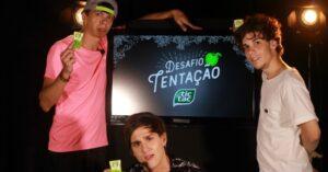 Júlio Cocielo, Christian Figueiredo e Polado, na live de Tic Tac, que aconteceu nesta terça-feira, 21 (crédito: divulgação)