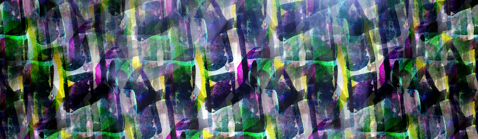 glare from abstract watercolor Blue green yellow seamless texture hand painted background