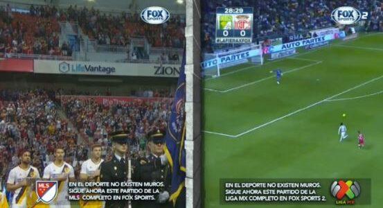 Futebol da Fox derruba muro