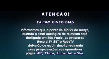 """Record, SBT e RedeTV avisam que vão sair do ar: """"falta de diálogo"""""""