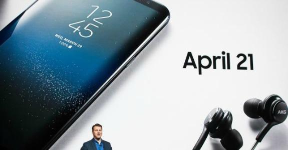 Justin Denison, vice-presidente sênior de marketing da Samsung Electronics, fala durante o evento Samsung Unpacked em Nova York na quarta-feira. Crédito: Mark Kauzlarich / Bloomberg