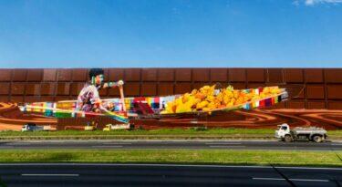 Kobra realiza maior painel do mundo para Cacau Show