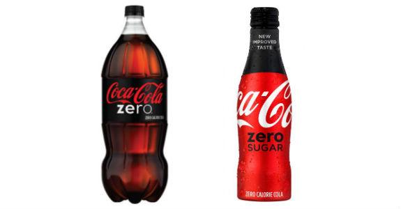 b3884fe7b Coca-Cola Zero e Coca-Cola Zero Açúcar (crédito: reprodução/Coca-Cola)