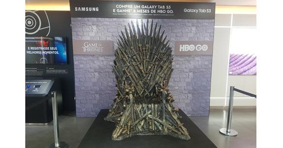 Samsung faz ação com HBO para divulgar Galaxy Tab S3