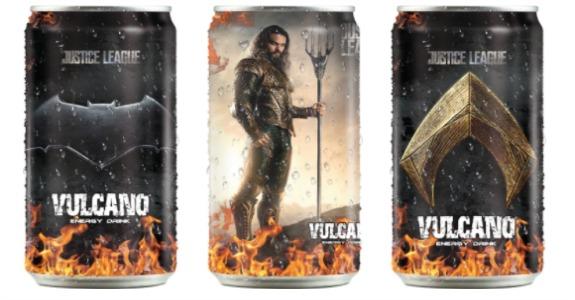 Energético Vulcano cria licenciados da Liga da Justiça