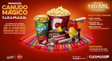 Cinemark celebra aniversário com canudo mágico