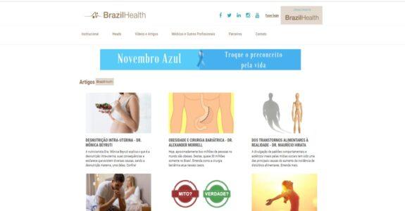 BrazilHealth: informações médicas confiáveis onde confiabilidade é crítico