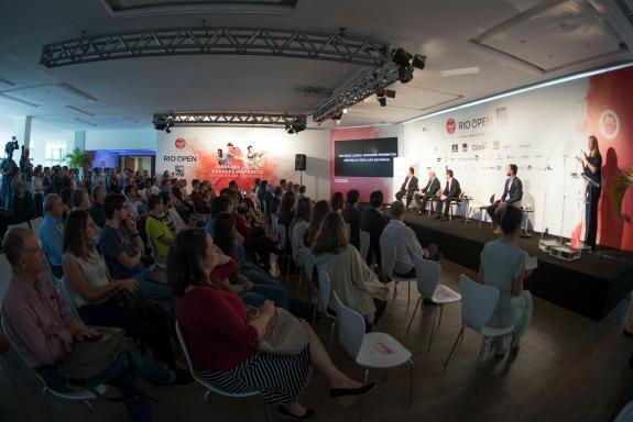 80e6c3d5e9 IMM apresenta próxima edição do Claro Rio Open em coletiva no Rio de  Janeiro (Crédito  Divulgação)