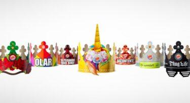 Coroas do Burger King viram adereços para folia