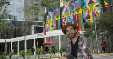 Espaço de inovação do Bradesco ganha mural de Kobra