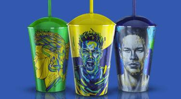 Neymar estampa copos em promoção da Gillette