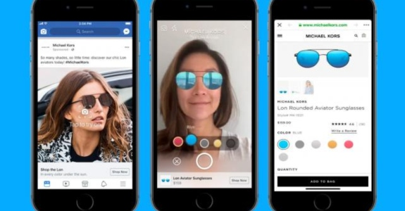 Facebook lança anúncios com realidade aumentada