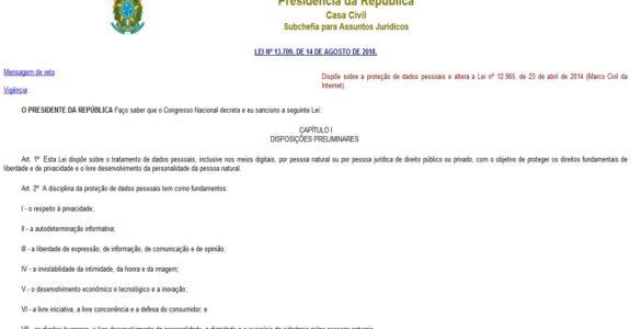 Você já leu na íntegra a Nova Lei de Dados do Brasil? Melhor ler.