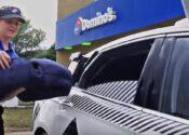 Oba, Pizza! Sabor self driving car!