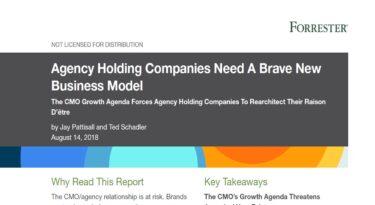 Para a Forrester, o modelo de holding companies de agências é coisa do século passado.