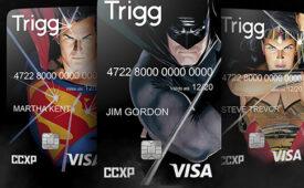 Trigg cria cartão de crédito com heróis da DC