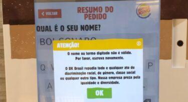 Burger King amplia restrição a políticos em autoatendimento