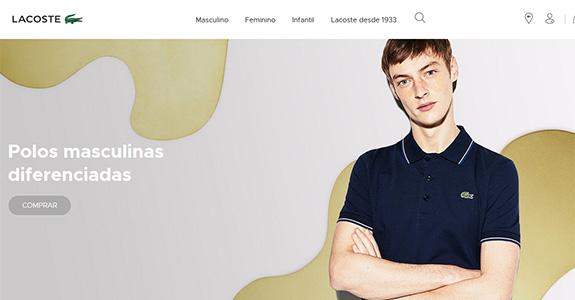 f05303aa2e2 A grife francesa Lacoste está inaugurando este mês seu e-commerce. O lacoste .com br – que poderá ser acessado por computador