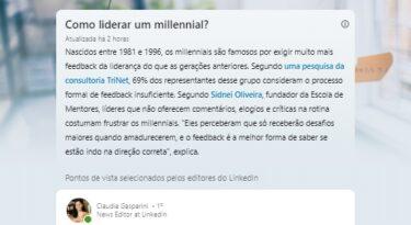 LinkedIn lança storylines no Brasil