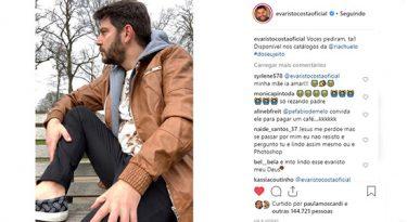 Fabio de Melo impulsiona estreia de Evaristo Costa como modelo