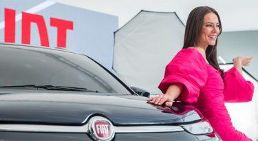 Por Vivi Guedes, Globo grava comercial para a Fiat em seus estúdios