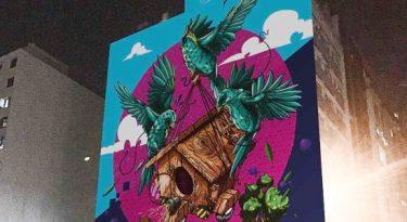 Veloe e Dionísio.Ag espalham grafites por São Paulo