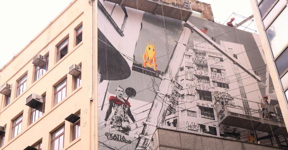 Obras inspiradas em Tarsila do Amaral colorem São Paulo