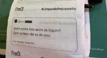 FreeCô faz papel higiênico com frases machistas