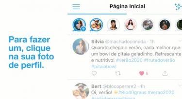 "Twitter testa ""stories"" de texto no Brasil"