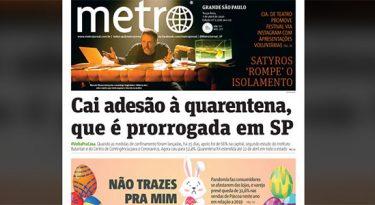 Jornal Metro deixa de circular e envia edições por e-mail