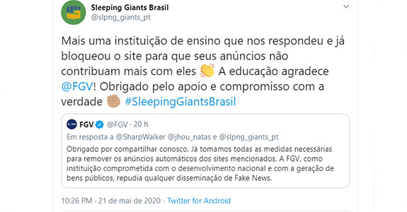 Sleeping Giants: o impacto das fake news sobre as marcas