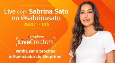 """Shoptime elegerá 100 influencers para suas """"lives commerce"""""""