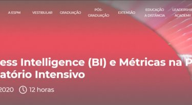 Curso de business intelligence e métricas neste final de semana na ESPM