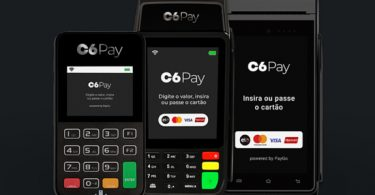 C6 Bank apresenta máquinas de cartão